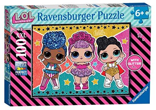 Ravensburger- L.O.L Glitter Puzzle per Bambini, Multicolore, 100 Pezzi, 12881
