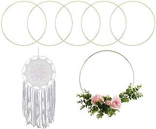 Umymaydo1 Anneaux en métal doré pour couronne de fleurs, hoop 20 cm/25 cm/30 cm/40 cm/50 cm, anneaux métalliques pour lois...