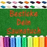 EllaTex Besticken Sie Handtuch mit Namen oder mit Wunschtext Bestickt, Farbe:Anthrazit-Grau; Größe:Saunatuch XXL 100x200 cm