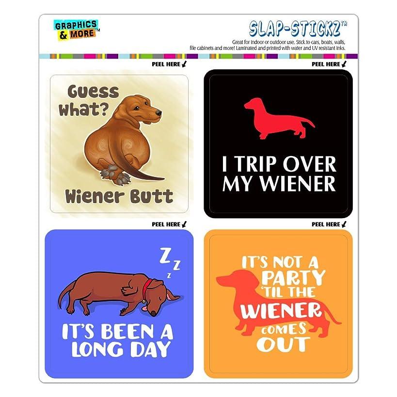 GRAPHICS & MORE Dachshunds Funny Wiener Dog Puns Craft Scrapbook Planner Calendar Sticker Set