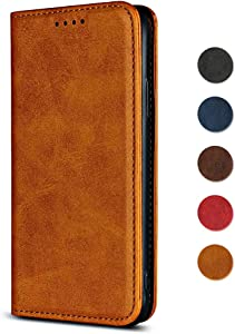 Case for Apple iPhone iPhone GORASS Classic Wallet Leather Case Magnetic Cover with Card Slot  Flip Folio Protective Case for Apple iPhone iPhone 6s  Light Brown