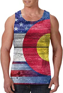 FANTASY SPACE Men's Sleeveless Vest T-Shirts Summer Tank Tops Sportswear - Sweatproof