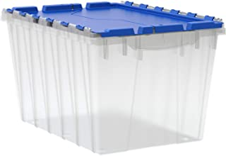 Akro-Mils 66486 CLDBL 12-Gallon Plastic Storage KeepBox with Attached Lid, 21-1/2-Inch by 15-Inch by 12-1/2-Inch, Semi Clear
