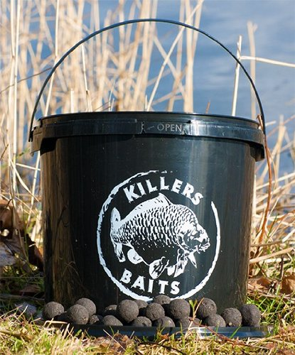 Carp Killers Boilies Black Hash 3,5kg Eimer, Karpfenköder, Angelköder zum Karpfenangeln, Fischköder für Karpfen, Karpfenboilies, Killers Baits, Durchmesser:Diffy Size(16.20&24mm gemischt)