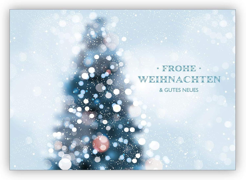 Im 16er 16er 16er Set privat & business  Edle Foto Weihnachtskarte mit Weihnachtsbaum im Schneetreiben  Frohe Weihnachten & gutes Neues B07L1WY9YV | Modern Und Elegant In Der Mode  b4c4cc