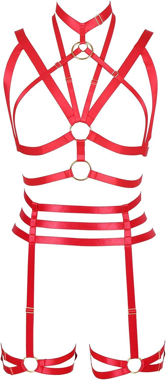 Full body harness for women Garter belt set Lingerie cage Halloween Gothic Punk Bra Plus size Festival rave