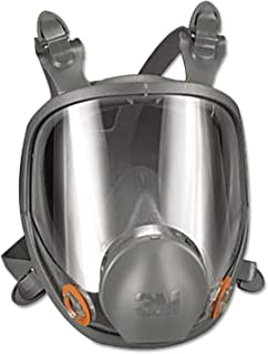 3M Safety 142-6800 Safety Reusable Full Face Mask Respirator, Grey, Medium
