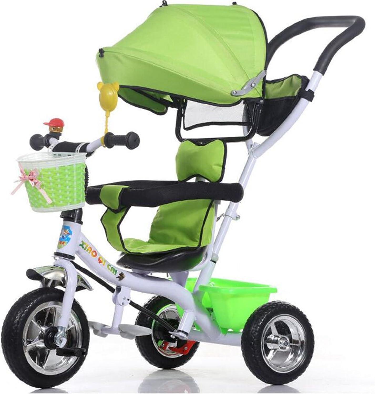 Con 100% de calidad y servicio de% 100. WF-BIKE Bicicleta Bicicleta Bicicleta de bebé Cochecito de Triciclo para Niños   1-3-5 años Cochecito de bebé Cochecito de bebé, verde  más orden