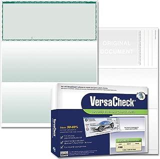 VersaCheck Security Business Check Refills: Form #1000 Business Voucher - Green - Premium - 250 Sheets