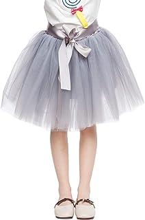 FEOYA Kinder Tüllrock Mädchen Tutu mit Elastischen Bund Prinzessin Rock für Party Fasching Karneval