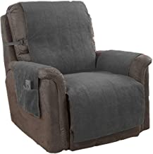 Link Shades GPD Furniture Fresh Heavy-Weight Luxury Textured Microsuede Pebbles Furniture Protector and Slipcover with Anti-Slip Non-Slip Backing (Recliner, Grey)-Water Repellant