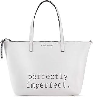 Tosca Blu Shopping bag grande Perfect, Unica, Bianco