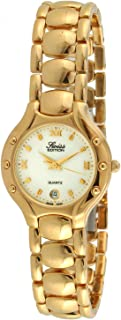 Women's Watch with 23k Gold Plated Dress Bracelet and Swiss Made Analog Quartz Movement