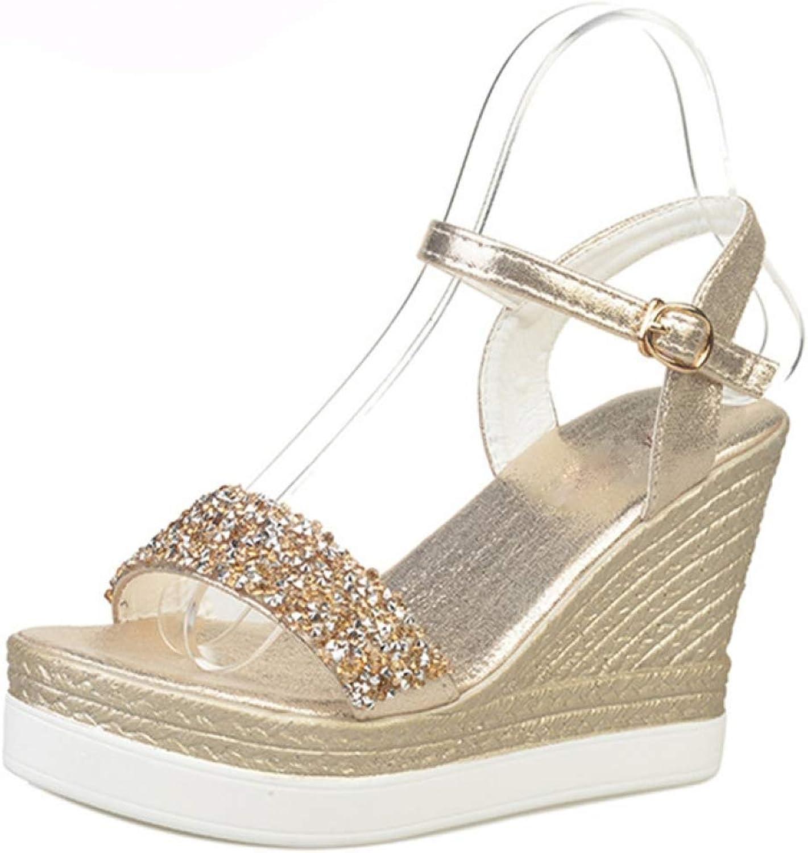 Summer high Heels Women Wedge Sandals Wedding Bride Sexy Sandals Summer Ankle Strap Girls Pumps
