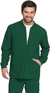 EDS Essentials Men's Zip Front Warm-Up Scrub Jacket