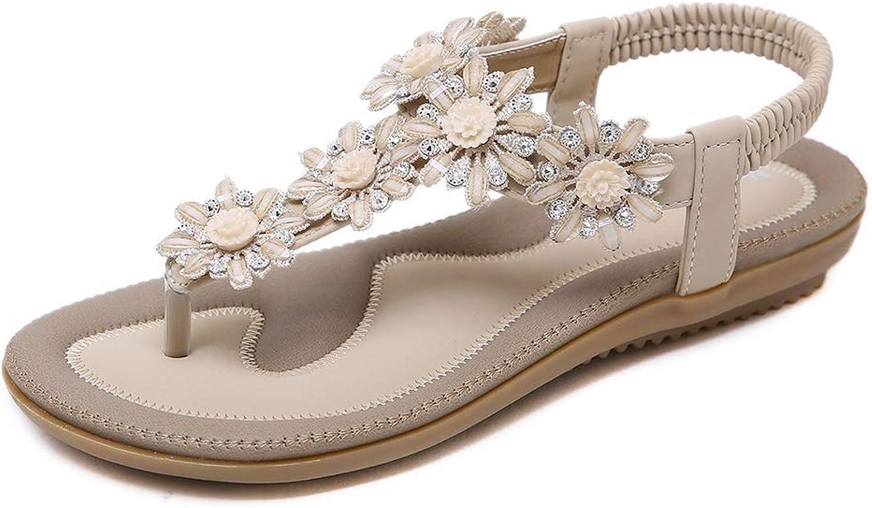 Meeshine Women's T-Strap Sparkly Summer Beach Thong Flat Sandals flip-Flop Dress shoes