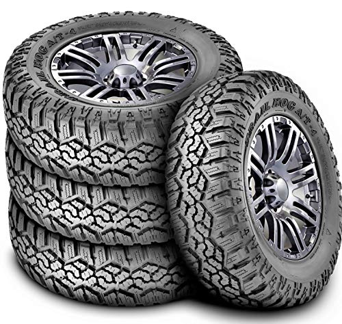 Set of 4 (FOUR) Kanati Trail Hog A/T-4 All-Terrain Radial Tires-37X12.50R17LT 124Q LRE 10-Ply