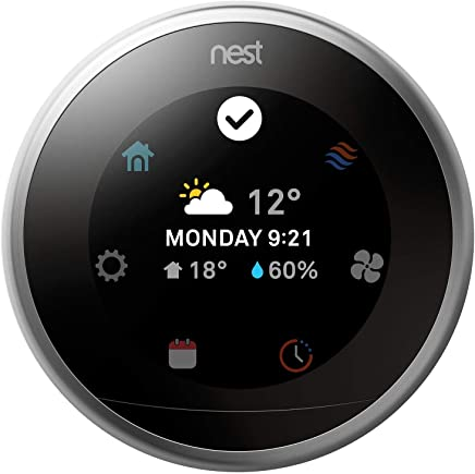 Nest Learning Thermostat 3rd Generation Stainless Steel (T3007)