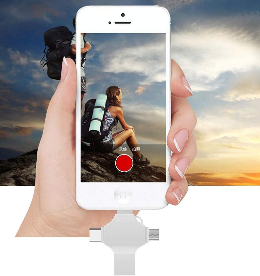 QKa 4 in 1 USB Flash Drive USB 3.0 External Storage for iPhone iOS ...