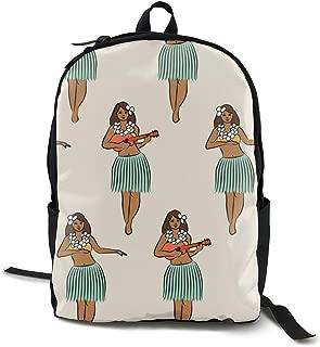 Travel Backpack Laptop Backpack Large Diaper Bag - Hawaiian Hula Girl Backpack School Backpack For Women & Men