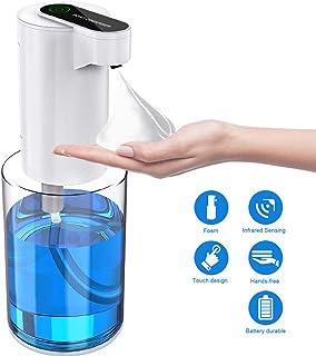 WEWAK Actualizado Dispensador Automático de Jabón Espuma 12 oz / 350 ml, Eléctrico con Batería sin Contacto, Dispensador de Jabón Manos Libres para Baño Cocina Inodoro Oficina