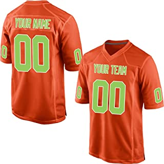 3de4dc6a60d Custom Orange Mesh Make Your Own Football Jersey Embroidered Team Name and  Your Numbers