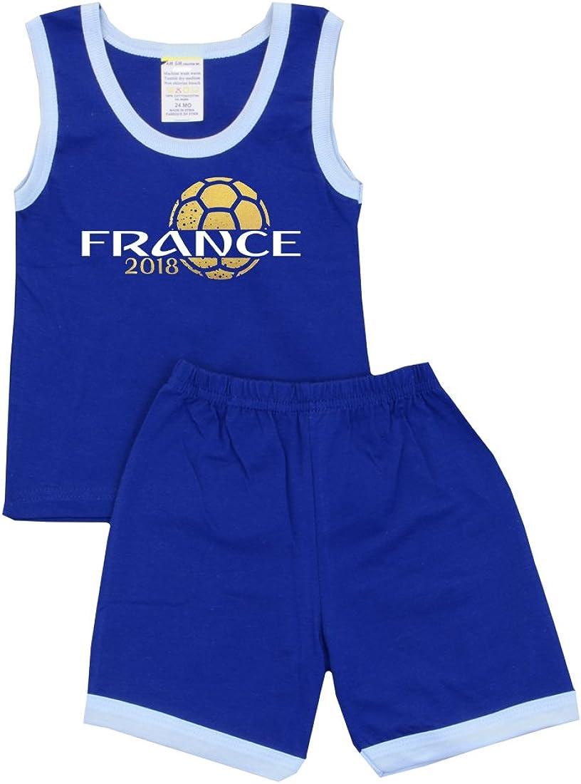 Pam GM Little Boys Soccer Shorts Set World Cup France 2018
