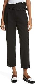 Carven Ruffle Waist Pantalon Pant for Women in Black, 38 US Medium 8