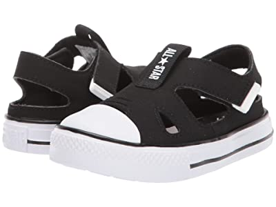 Converse Kids Chuck Taylor All Star Superplay Sandal Ox (Infant/Toddler) (Black/Black/White) Kids Shoes