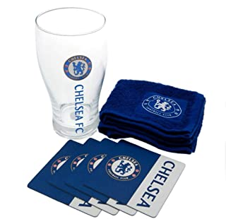 Chelsea FC Official Wordmark Football Crest Peroni Pint Glass