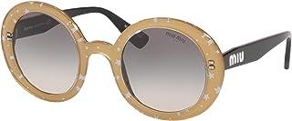 Miu Miu MU06US Gold MU06US Round Sunglasses Lens Category 2 Size 48mm