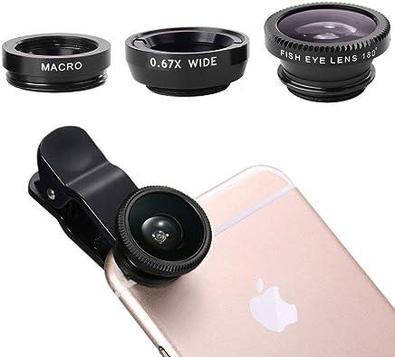 Phone Camera Lens Macro Lens & Wide Angle Lens & Fisheye Lens Clip Cell Phone Camera Lens for Smartphone