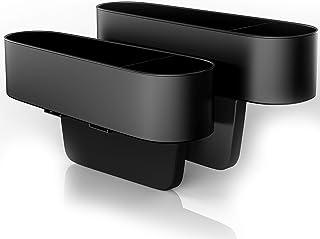 (2 Pcs) Auto Organizer Aufbewahrungsbox Sitz Organizer Auto ABS Vordersitz auslaufsicherer Aufbewahrungsbox Organizer, Autositz Seitentaschen Organizer, Autositztasche Autositz Side Gap Filler