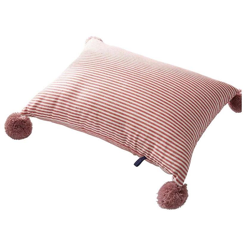 遠足セクション忍耐Mayalina 枕シンプルなストライプの枕ヘアボールクッションカバーかわいい生地枕取り外し可能と洗えるコア (色 : Pink stripes, Size : 40*50cm)