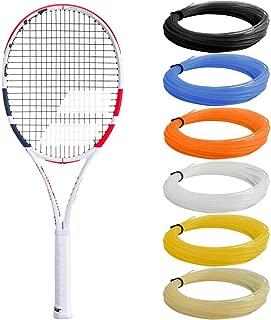 Babolat Pure Strike 16x19 (3rd Gen) Tennis Racquet Strung with SG Spiraltek Synthetic Gut Racket String in Custom Colors (Dominic Thiem's Racquet)