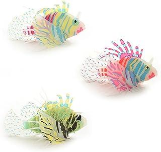 ULTNICE 3pcs del Snailfish Artificial pez león para peces de acuario tanque Decor