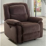 Push-Button Power Recliner Chair with Deep Body Cushions by Serta (Brown)
