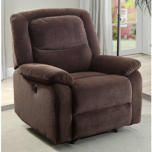 Serta Power Recliner, Brown 37.75'W x 38'D x 41'H …