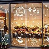 Begleri 135 Fensterbilder für Weihnachten,Schneeflocken mit Fensterdeko -Statisch Haftende PVC Aufklebe -