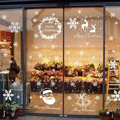 Begleri 135 Fensterbilder für Weihnachten,Schneeflocken mit Fensterdeko -Statisch Haftende PVC Aufklebe