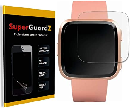[3-Pack] for Fitbit Versa 2 (2019) Screen Protector [Full Coverage], SuperGuardZ, Edge-to-Edge Protect, Ultra Clear, Military Grade TPU Film [Lifetime Replacement]