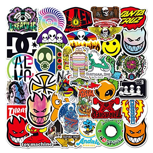 YZFCL Tide Brand European and American Suitcase Sticker Helmet Skateboard Mobile Phone Sticker Suitcase Suitcase Paste 50pcs