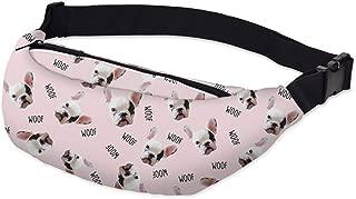 Waist bags 3D Printed Bulldog Adjustable Belt Women for Outdoors Girls Travelling YB17,YB-17