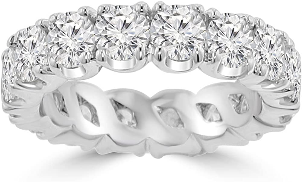 Madina Jewelry 4.00 Beauty products ct Ladies Eternity Round Wedding Cut Diamond Excellence