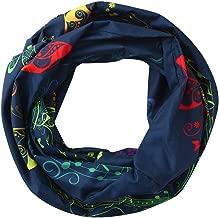 🌸🌸HYIRI Moisture Wicking Women Print Winter Convertible Infinity Loop Scarf Zipper Pocket Scarves