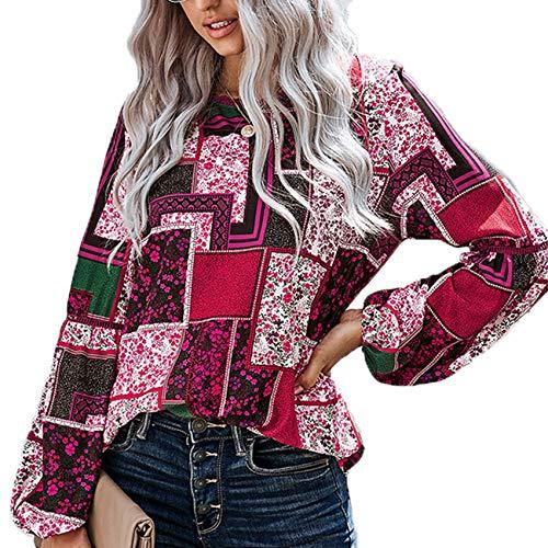 Herbst/Winter Damen Pullover Langarm Tops Damen Wild Stitching Farbe Loses GroßEs T-Shirt