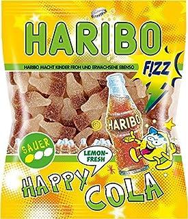 Haribo Happy Cola Lemon Fresh, Gummy Bears, Wine Gum, Fruit Gum, in a Bag, 200 g