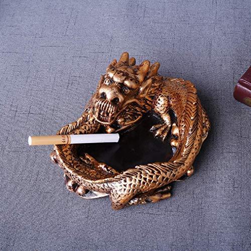 AMITD Ronde gouden dierenasbak draagbaar tafelblad ashouder creatieve persoonlijkheid handwerk decoratie