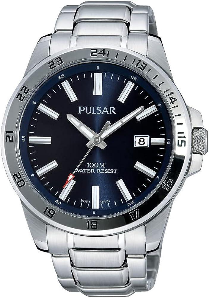 Pulsar Reloj Analógico para Hombre de Cuarzo con Correa en Acero Inoxidable PS9331X1