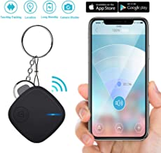 Key Finder Smart Tracker - Key Finder Locator with App for Phone - Bluetooth Phone Finder Wallet Tracker for Keychain Bag Purse Luggage - Anti-Lost Tracking Device Replaceable Battery Item Finder